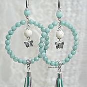 Tassel earrings handmade. Livemaster - original item Beautiful earrings rings with tassels