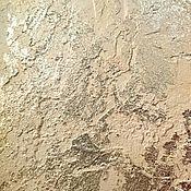 Дизайн и реклама ручной работы. Ярмарка Мастеров - ручная работа Фактурная штукатурка с рваной поталью роскошный лофт кантри. Handmade.