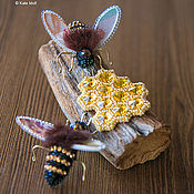 Украшения ручной работы. Ярмарка Мастеров - ручная работа Набор из 3х брошей Honey. Handmade.