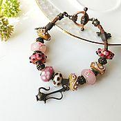 Украшения handmade. Livemaster - original item Bracelet style Pandora Pink Moscato. Handmade.