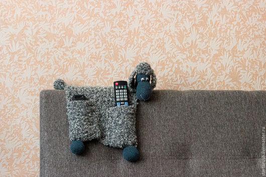 """Игрушки животные, ручной работы. Ярмарка Мастеров - ручная работа. Купить Вязаная интерьерная игрушка-пультяшница """"Овечка"""". Handmade."""