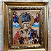 Картины и панно handmade. Livemaster - original item The icon of St. Nicholas the Wonderworker. Handmade.
