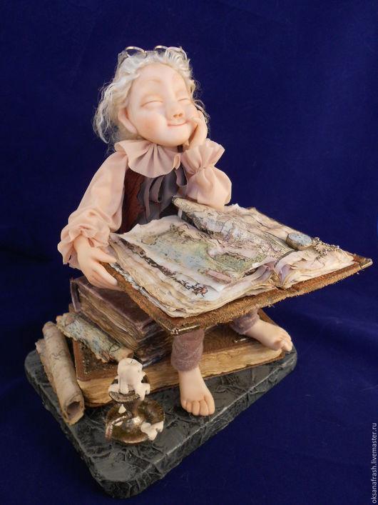 Коллекционные куклы ручной работы. Ярмарка Мастеров - ручная работа. Купить кукла.Хранитель знаний 2. Handmade. Коричневый, карты
