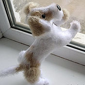 Куклы и игрушки handmade. Livemaster - original item Naughty puppy knit toy. Handmade.