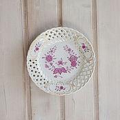 "Винтаж ручной работы. Ярмарка Мастеров - ручная работа 1970-1980гг. Ажурная настенная тарелка  ""Linderhof"", Hutschenreuther. Handmade."