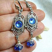 "Украшения handmade. Livemaster - original item Silver plated brass earrings ""Morning light"". Handmade."