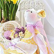 Куклы и игрушки ручной работы. Ярмарка Мастеров - ручная работа Мышка Sunshine текстильная интерьерная игрушка. Handmade.