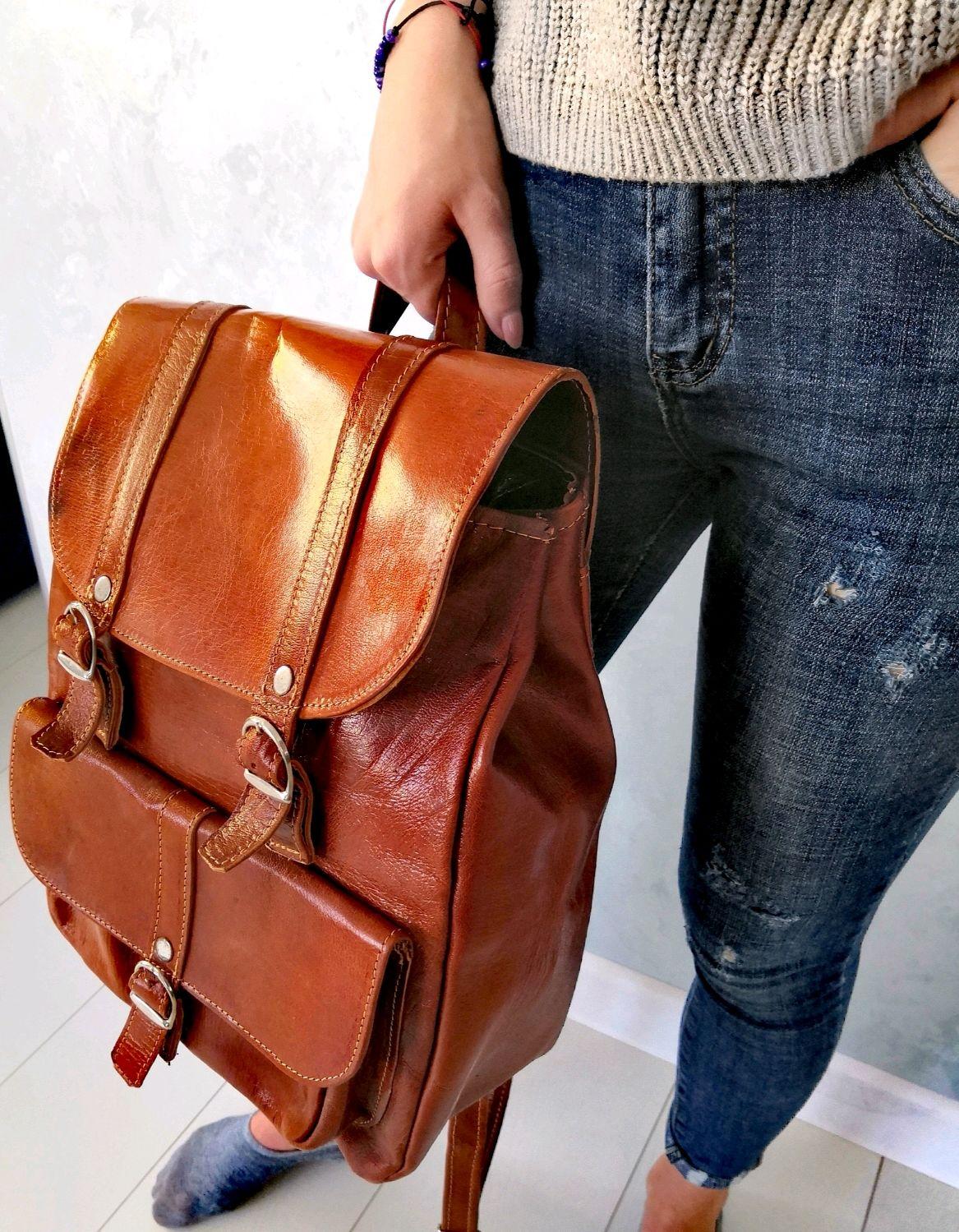 Рюкзак из натуральной кожи верблюда, Рюкзаки, Уфа,  Фото №1