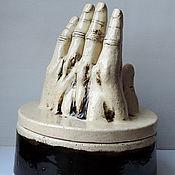 Для дома и интерьера ручной работы. Ярмарка Мастеров - ручная работа Шкатулка керамическая Рука пустыни. Handmade.