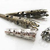 Материалы для творчества ручной работы. Ярмарка Мастеров - ручная работа Колпачки ажурные, для бусин, для бисерных шнуров. Handmade.