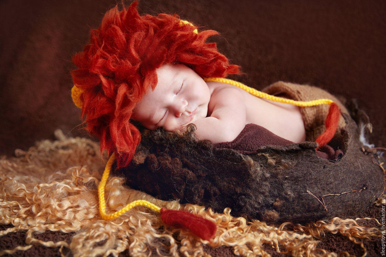Для новорожденных, ручной работы. Ярмарка Мастеров - ручная работа. Купить Костюм Львенка для фотосессии новорожденного. Handmade. Лев