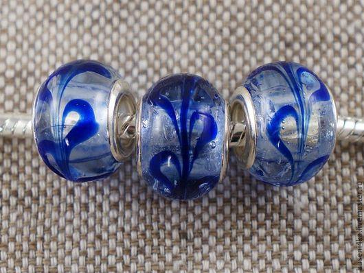 Для украшений ручной работы. Ярмарка Мастеров - ручная работа. Купить Бусина для евро-браслета №30 (1шт). Handmade.