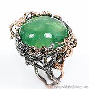 Украшения handmade. Livemaster - original item Jungle ring with green fluorite.. Handmade.