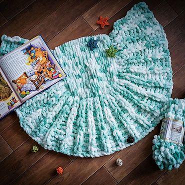 Текстиль ручной работы. Ярмарка Мастеров - ручная работа Детский mini плед. Handmade.