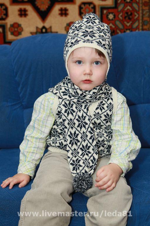 Шапки и шарфы ручной работы. Ярмарка Мастеров - ручная работа. Купить комплект. Handmade. 50% шерсть