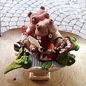 Для дома и интерьера ручной работы. Ярмарка Мастеров - ручная работа Бегемот- стоматолог. Handmade.