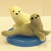 Косметика ручной работы handmade. Livemaster - original item Soap Polar friends. Handmade.