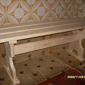 Для дома и интерьера ручной работы. Ярмарка Мастеров - ручная работа Деревянная лавка. Handmade.