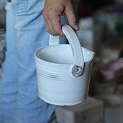 Для дома и интерьера ручной работы. Ярмарка Мастеров - ручная работа Ведро керамическое. Handmade.