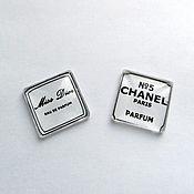 "Кабошоны ручной работы. Ярмарка Мастеров - ручная работа Кабошон ""Шанель №5""+ шаблон. Handmade."