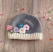 Работы для детей, ручной работы. Ярмарка Мастеров - ручная работа Вязаная шапочка для девочки. Handmade.