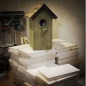Для дома и интерьера ручной работы. Ярмарка Мастеров - ручная работа Скворечник окрашенный/некрашеный. Handmade.