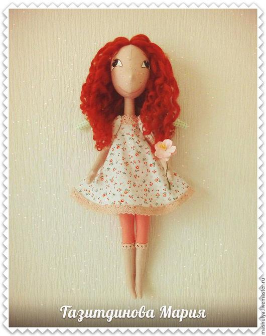 Куклы тыквоголовки ручной работы. Ярмарка Мастеров - ручная работа. Купить Рыжий ангел. Handmade. Комбинированный, кукла текстильная купить