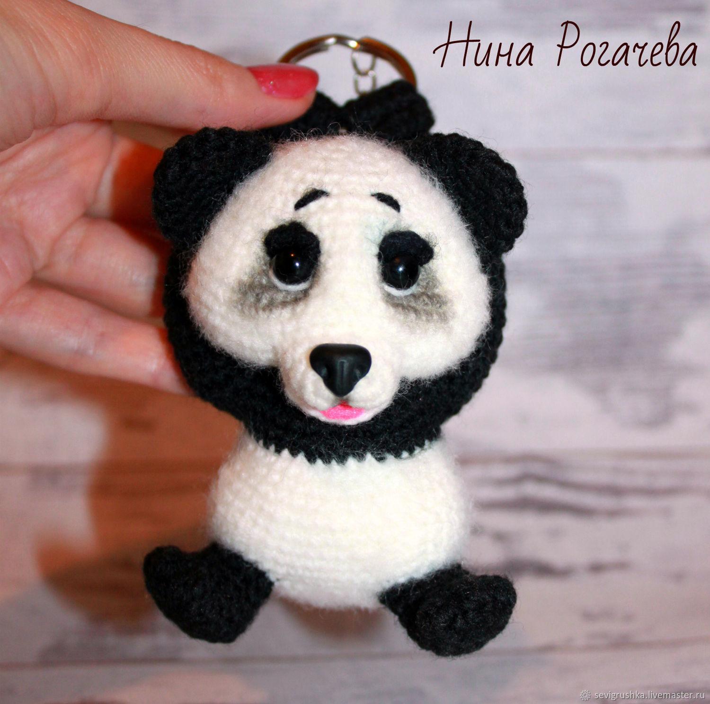 Key Chain Panda. Panda knitted, Stuffed Toys, Kandalaksha,  Фото №1