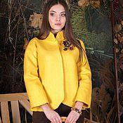 """Одежда ручной работы. Ярмарка Мастеров - ручная работа жакет """" желтый - солнечный"""". Handmade."""