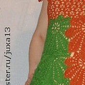 """Одежда ручной работы. Ярмарка Мастеров - ручная работа платье летнее,,Листья"""". Handmade."""