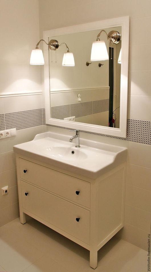 Зеркала ручной работы. Ярмарка Мастеров - ручная работа. Купить Зеркало для ванной. Handmade. Зеркало, стекло, прованс, интерьер
