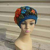 Аксессуары handmade. Livemaster - original item cap with embroidery. Handmade.
