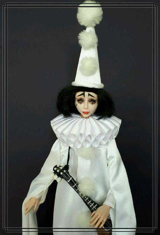 Коллекционные куклы ручной работы. Ярмарка Мастеров - ручная работа. Купить Пьеро!. Handmade. Белый, кукла, подарок на день рождения
