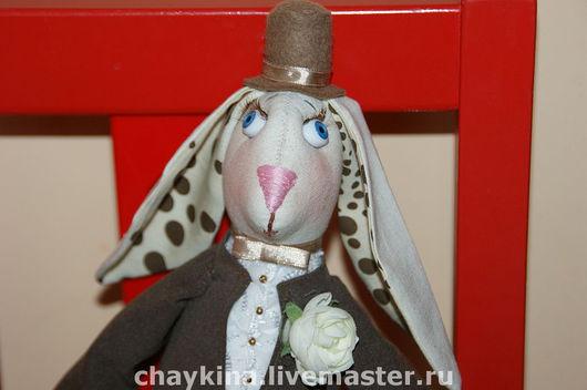 Ароматизированные куклы ручной работы. Ярмарка Мастеров - ручная работа. Купить Кролик Пафнутий. Handmade. Кролик, подарок, 100% хлопок