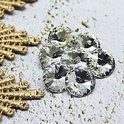 Материалы для творчества handmade. Livemaster - original item Glass rhinestones 12 mm Rivoli Crystal. Handmade.