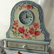 """Для дома и интерьера ручной работы. Ярмарка Мастеров - ручная работа Часы настольные, каминные """" Старинные часы еще идут"""". Handmade."""