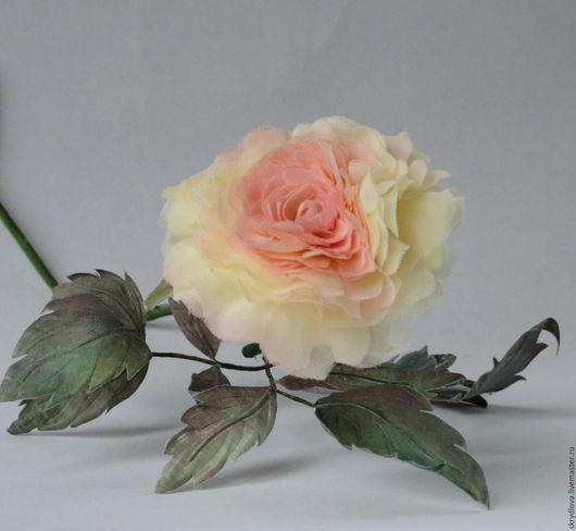 """Букеты ручной работы. Ярмарка Мастеров - ручная работа. Купить Цветы из шелка роза интерьерная """"Аврора"""". Handmade. Бледно-розовый"""