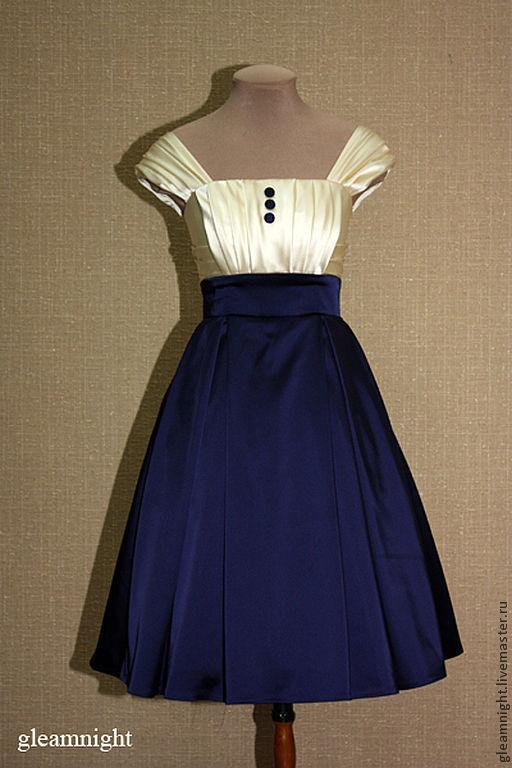 Платья ручной работы. Ярмарка Мастеров - ручная работа. Купить Вечернее платье на корсете. Handmade. Тёмно-синий, платье на корсете