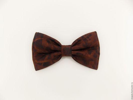 """Галстуки, бабочки ручной работы. Ярмарка Мастеров - ручная работа. Купить Галстук - бабочка """"Эффект Батика"""" коричневый, шоколадный. Handmade."""