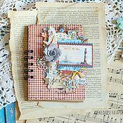 Канцелярские товары ручной работы. Ярмарка Мастеров - ручная работа Морской блокнот для записей и зарисовок. Handmade.