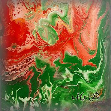 """Картины и панно ручной работы. Ярмарка Мастеров - ручная работа """"Арбузное настроение"""""""", картина акриловыми красками.. Handmade."""