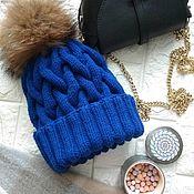 Аксессуары handmade. Livemaster - original item Hat with large braids