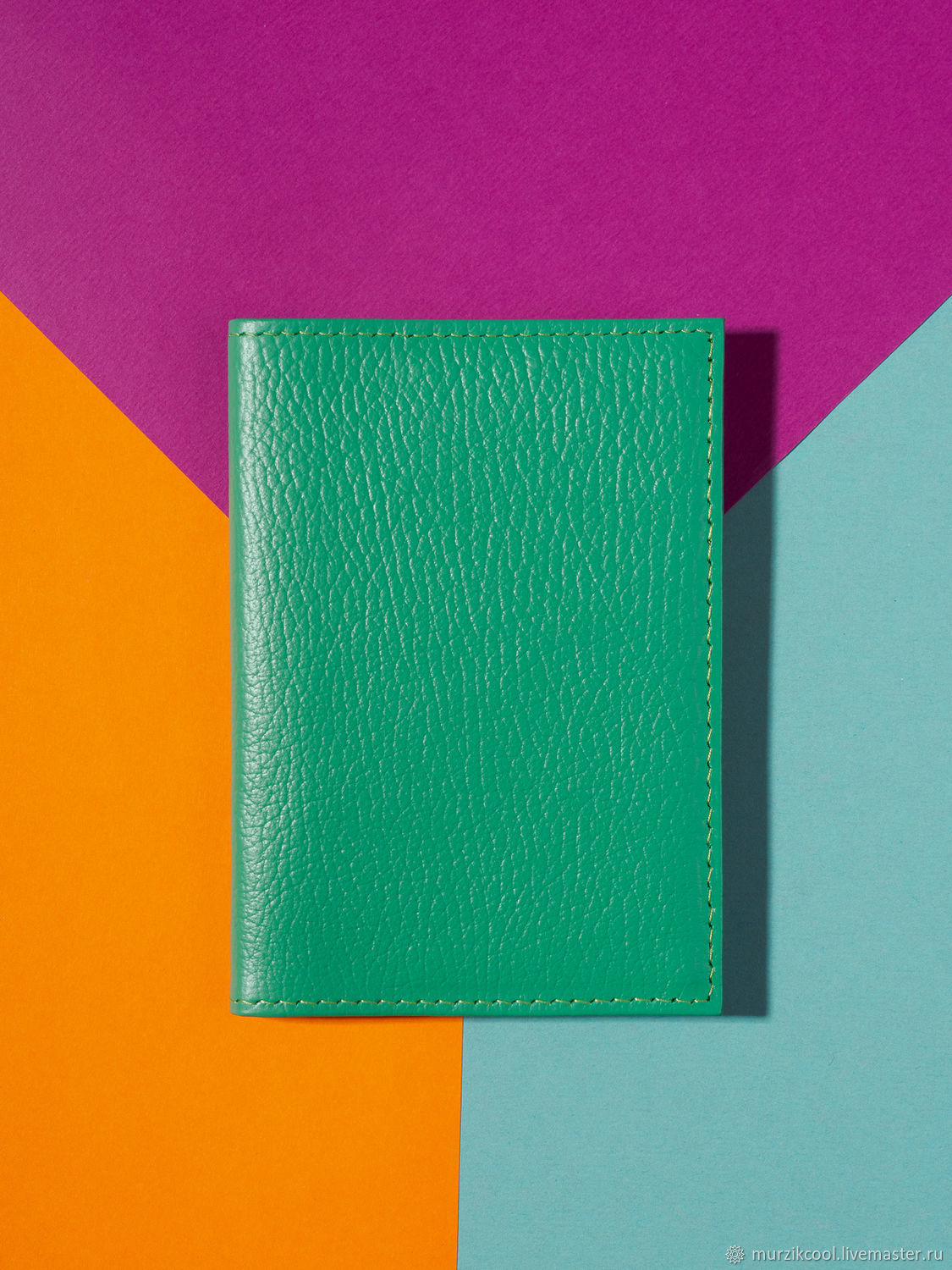 Passport cover 'Classic' Green, Cover, Moscow,  Фото №1