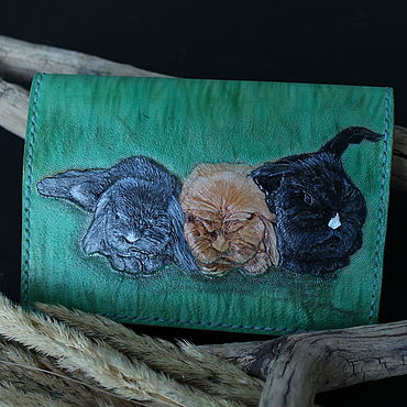 Stationery handmade. Livemaster - original item Leather passport cover