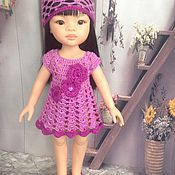 Куклы и игрушки ручной работы. Ярмарка Мастеров - ручная работа наряд для паолочки фиолетовый. Handmade.