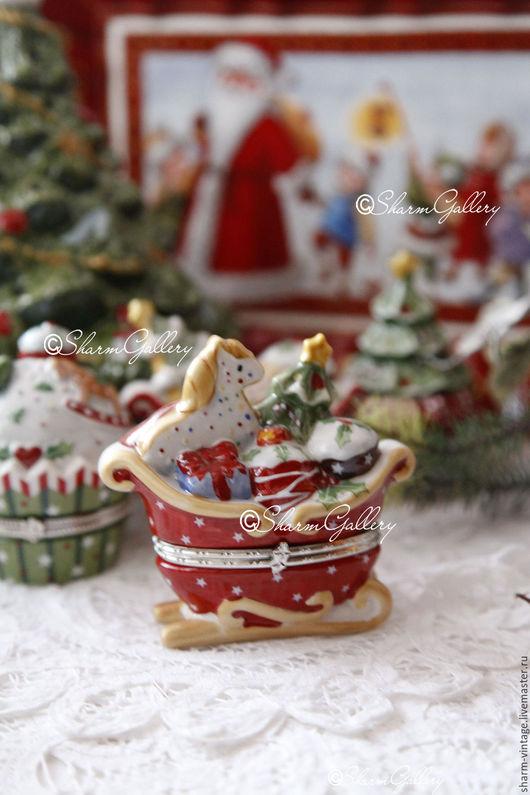 """Винтажные предметы интерьера. Ярмарка Мастеров - ручная работа. Купить Шкатулочка """"Новогодняя"""", Winter Bakery от Villeroy & Boch Германия. Handmade."""