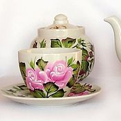 Посуда handmade. Livemaster - original item Tea set painted