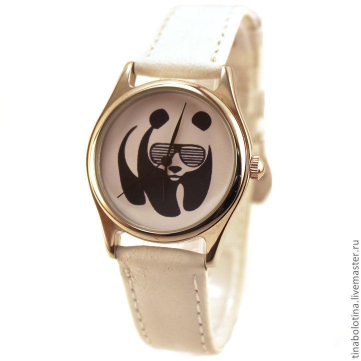 Часы ручной работы. Ярмарка Мастеров - ручная работа. Купить Дизайнерские наручные часы Панда. Handmade. Панда, необычный подарок
