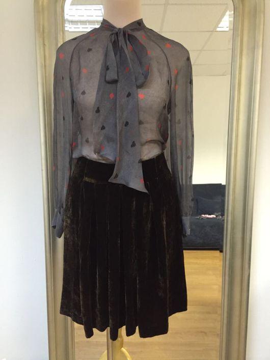 """Блузки ручной работы. Ярмарка Мастеров - ручная работа. Купить Шелковая блузка """"Покер"""". Handmade. Шелк, шелковая блузка, блузка"""