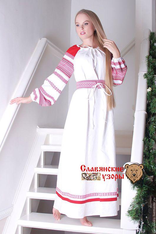"""Этническая одежда ручной работы. Ярмарка Мастеров - ручная работа. Купить Платье """"Вешние Воды"""". Handmade. Белый, традиционная одежда"""